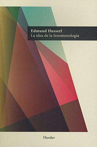 9788425428371: La idea de la fenomenología