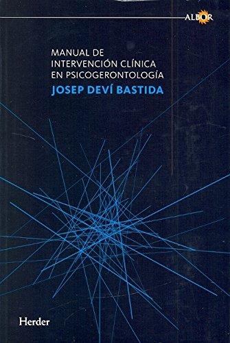 9788425428517: Manual de intervención clínica en psicogerontología (Albor (herder))