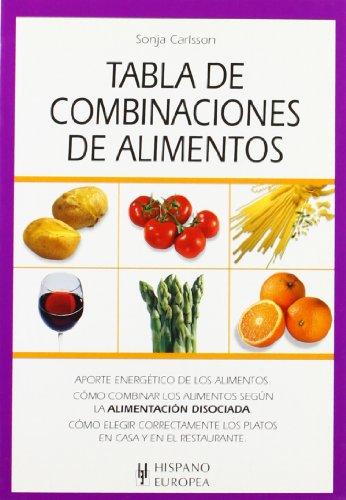 9788425514166: Tabla de combinaciones de alimentos (Tablas de alimentos)