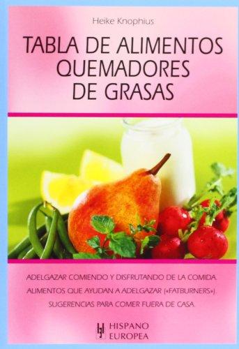 9788425515934: Tabla de alimentos quemadores de grasas (Spanish Edition)
