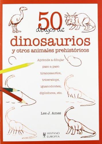 9788425517334: 50 dibujos de dinosaurios y otros animales prehistóricos