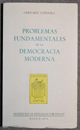9788425901294: Problemas fundamentales de la democracia moderna