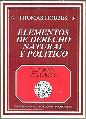 9788425906152: Elementos de derecho natural y politico