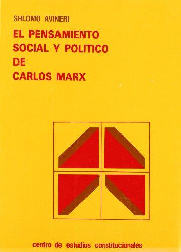 9788425906916: Pensamiento social y político de Carlos Marx, el