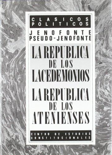 9788425908330: republica de los lacedemonios, la
