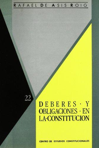 9788425908828: Deberes y obligaciones en la constitucion