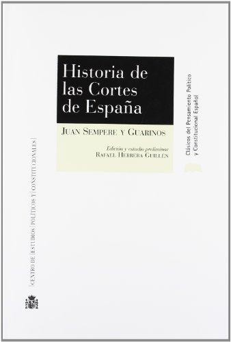 9788425915017: Historia de Las Cortes de Espana