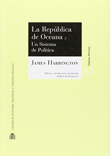 9788425915734: La República de Oceana y un sistema de política