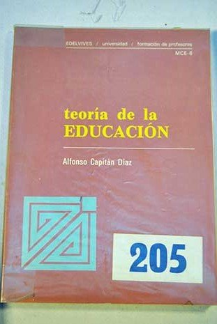 9788426304599: Teoria de la educacion (Edelvives, Universidad, formacion de profesores ; MCE-6) (Spanish Edition)