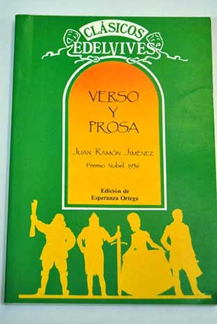 Verso y prosa : Juan Ramón Jiménez: Juan Ramon Jimenez