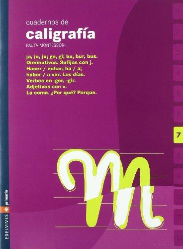 9788426358394: Cuaderno 7 de caligrafia Pauta Montessori
