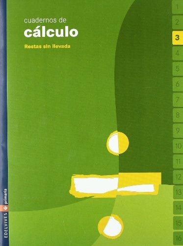 Cuadernos de Cálculo 3. Restas sín llevada. Primaria.