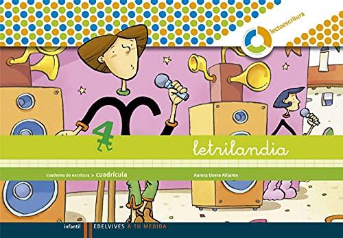 9788426371485: Letrilandia. Lectoescritura cuaderno 4 de escritura (Cuadricula) (A tu medida (entorno Lógica Matemática))