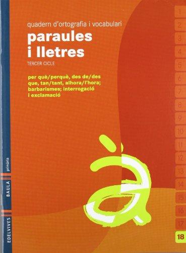 9788426374639: Quadern 18 d`ortografia i vocabulari (Paraules i Lletres)