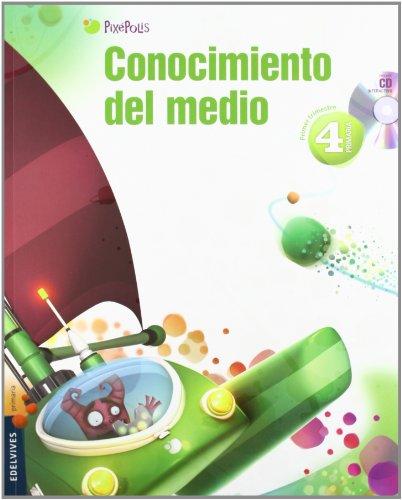 9788426383365: Conocimiento del Medio 4º Primaria (Castilla-La Mancha) Tres Trimestres (Pixepolis) - 9788426383365