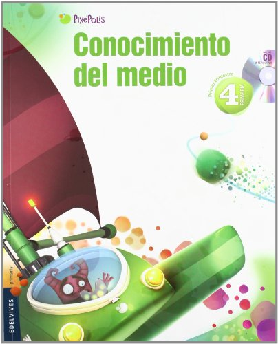 9788426383389: Conocimiento del Medio 4º Primaria (Aragón) Tres Trimestres (Pixepolis) - 9788426383389