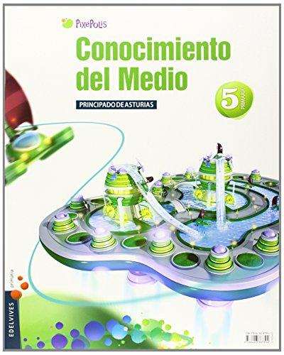 9788426387394: Conocimiento del medio 5º Primaria (P. Asturias) Tres Trimestres (Pixepolis) - 9788426387394