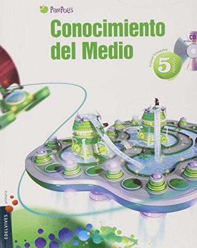 9788426387455: Conocimiento del Medio 5º Primaria (Andalucia) Tres Trimestres (Pixepolis) - 9788426387455