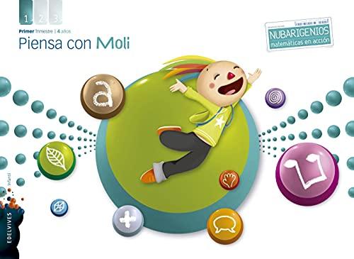 9788426388261: Piensa con Moli (Infantil 4 años Primer Trimestre) (Nubarigenios) - 9788426388261