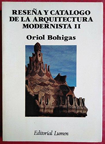 9788426411501: Reseña y catalogo de la arquitectura modernista II