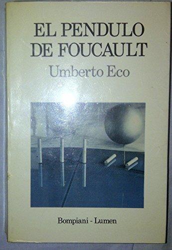 9788426411884: Pendulo de foucault