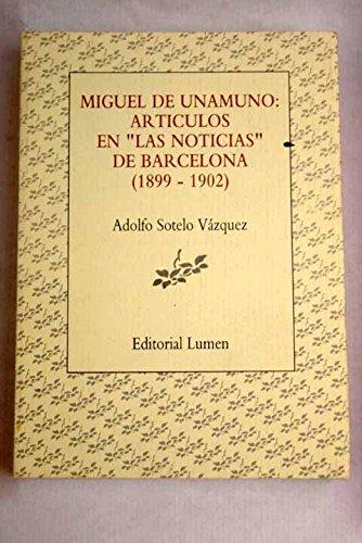 9788426423672: Miguel de unamuno articulos en