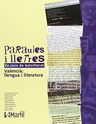Selectivitat, paraules i lletres, 2 Batxillerat: Martines, Josep .