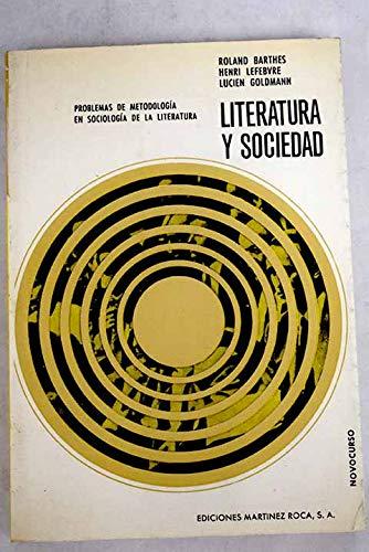 9788427000407: Literatura y sociedad