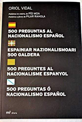 9788427032293: 500 preguntas al nacionalismo en español (MR Ahora)