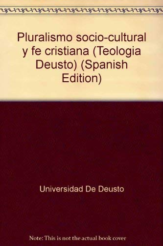 9788427116443: Pluralismo socio-cultural y fe cristiana (Teología Deusto) (Spanish Edition)