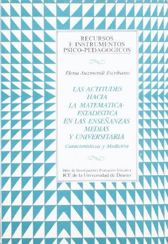 9788427117686: Actitudes hacia matemática-estadística en e.medias y universitarias