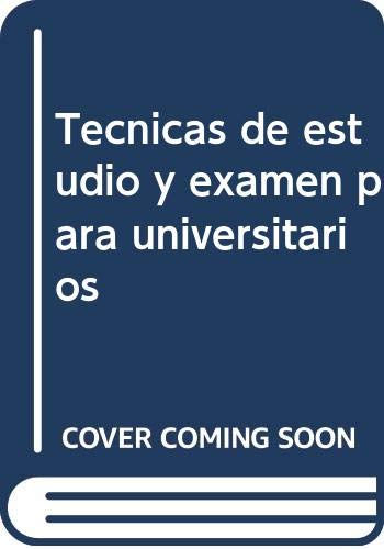 9788427122628: TECNICAS ESTUDIO EXAMEN UNIVERSITARIO (Pedagogia)