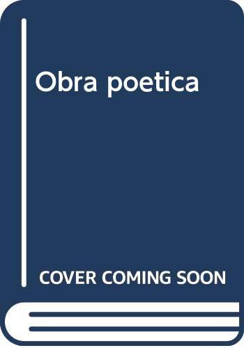 9788427350144: Obra poètica