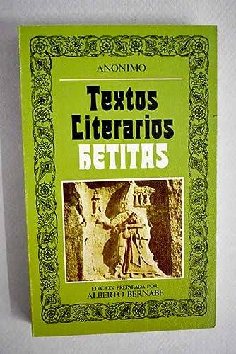 9788427604742: TEXTOS LITERARIOS HETITAS.