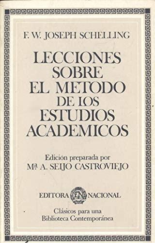 9788427606722: LECCIONES SOBRE EL METODO DE LOS ESTUDIOS ACADEMICOS