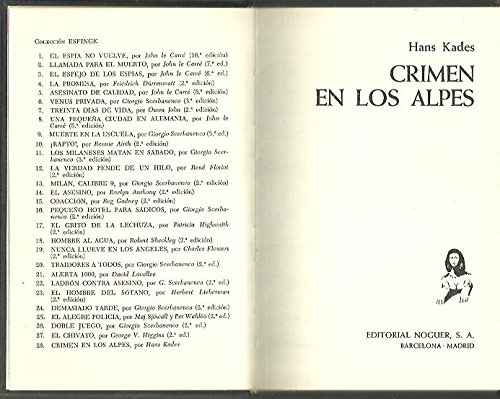 9788427900332: CRIMEN EN LOS ALPES
