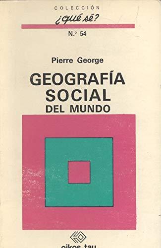 9788428101868: Geografia Social del Mundo (Spanish Edition)