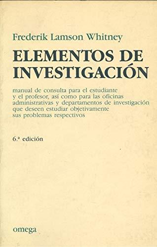 9788428201230: ELEMENTOS DE INVESTIGACION (FUERA DE CATALOGO)