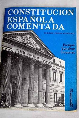 9788428310109: Constitucion espanola comentada (Spanish Edition)