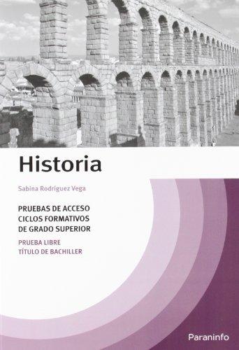 9788428312127: Temario Historia pruebas de acceso a ciclos formativos de grado superior