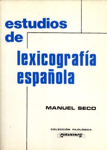 9788428315432: Estudios de Lexicografía Española (Colección Filológica) (Spanish Edition)