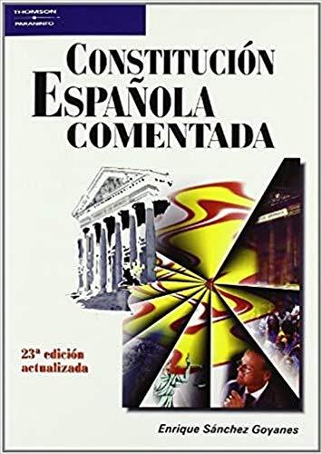 9788428329033: Constitucion Espa nola Comentada Spanish Edition