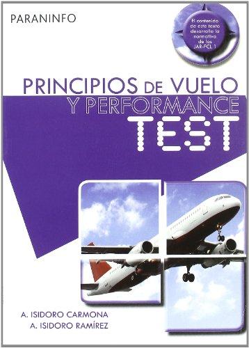 9788428331715: Principios de vuelo y peformance test