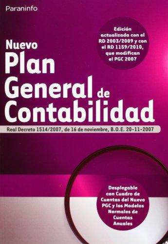 9788428333535: Nuevo Plan General de Contabilidad (Contabilidad (paraninfo))