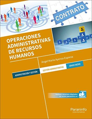 OPERACIONES ADMINISTRATIVAS DE RECURSOS HUMANOS: AYENSA ESPARZA, ANGEL MARIA