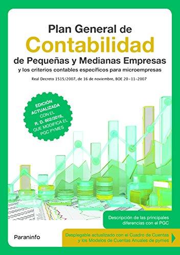 9788428339919: Plan General de Contabilidad de pequeñas y medianas empresas 3.ª edición 2017