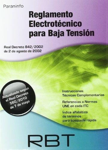9788428380959: RBT. Reglamento electrotécnico para baja tensión. Edición 2010