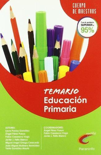 9788428380997: Temario Educación Primaria. Oposiciones. Cuerpo de maestros - 9788428380997