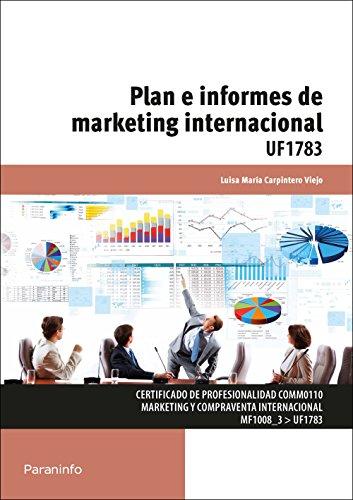 Plan e informes de Marketing Internacional. Certificados: Luisa Maria Carpintero