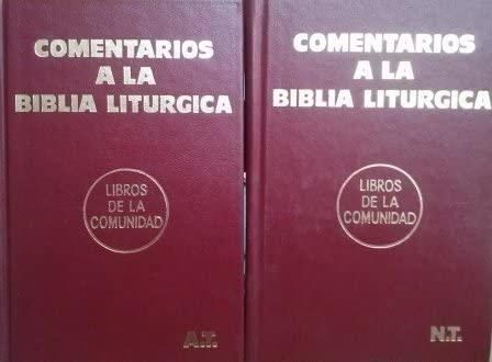 COMENTARIOS A LA BIBLIA LITURGICA (Antiguo y